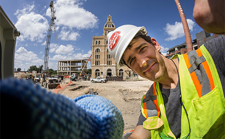 Scott Martin on the Pearl construction site