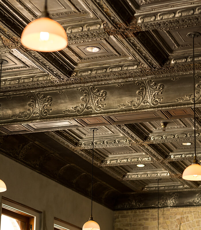 Cured Restaurant San Antonio Texas, New/old ceiling