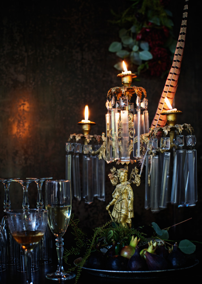 Picture of a private candle lit dinner.