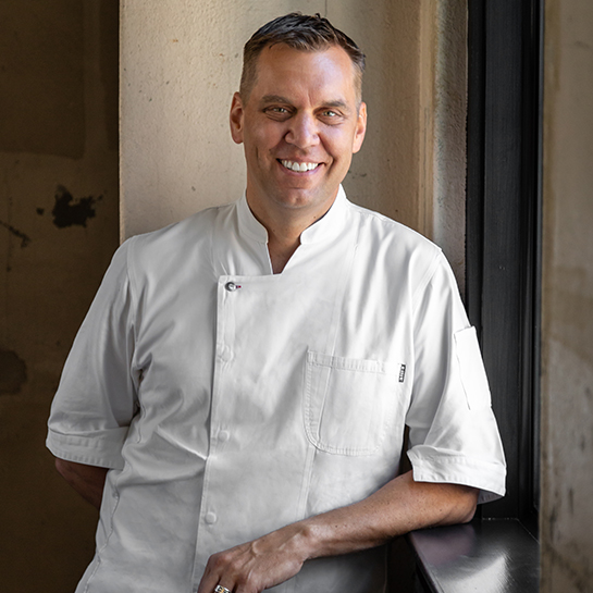 Photo of Chef John Brand, the chef at Hotel Emma's restaurant, Supper.